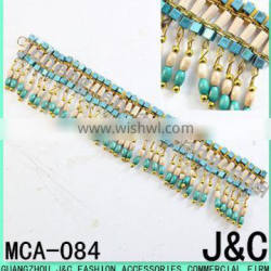 blue color wood beads multi-purpose shoes Chain