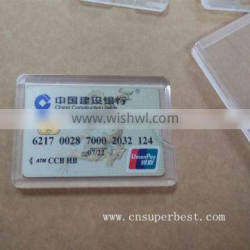Clear acrylic credit card holder for personal use