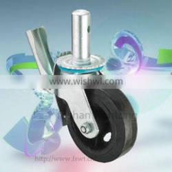 6 Inch Industrial Rubber Swivel With Lock Scaffold Caster