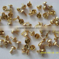 Fashion handbag hardware accessories metal brads/ metal nails for bags