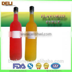 EU Standard 2014 Popular Bottled Flavoured syrup/Coffee syrup/Bar syrup/Bubble Tea syrup