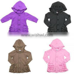 Wholesale 2016 baby Knitted designs for kids cotton knit hooded cardigan with buttom