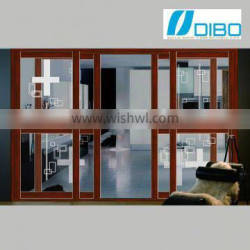 Modern design Double Glass electrophoresis slide door for bath