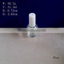 cheap round 30ml glass nail polish bottles with brush cap