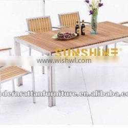 Outdoor Garden Furniture WPC Poly Wood Dining Sets FCO-P23