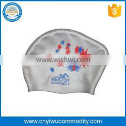 Adult Waterproof Stretch Swimming Hat Swim Silicone Cap with Ear Unisex hat