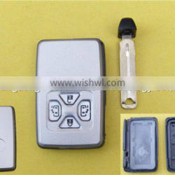 New emergency key 4 buttons with sliding door smart key card shell for Toyota Alphard VELLFIRE Quality Choice