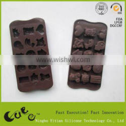 Food Grade Silicone cake Cookie Mould animal 15cups