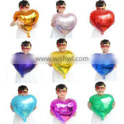 Plain Color 18 inch Heart shaped balloons for birthday decoration
