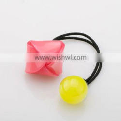 Handmade Kids candy round ball Hair Ties With cellulose acetate/resin Acrylic cartoon letter Hair hats cute Decorative for girls