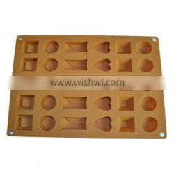2014 Different shaped Chocolate silicone mold made in china
