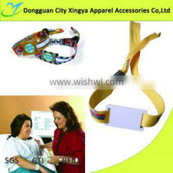 promotional custom one time use woven RFID wristband
