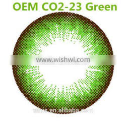 Popular green contact lense OEM CO2-23 color contact lens Korea wholesale price with 6 colors to choose