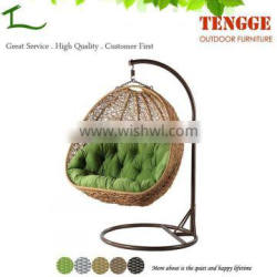 TG15-0145 Resin wicker hanging chair egg shaped wicker chairs