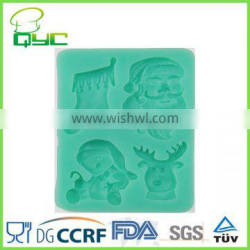 Christmas stocking Silicone Cake Decorating Fondant Sugar Craft Mold,Deer,Santa Claus