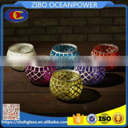 lucency colorful mosaic galss candle holder