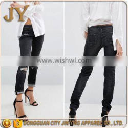 Ladies Jeans Top Design Biker Jeans Women Jeans with Rips Causal Pants for Women Ladies Clothing