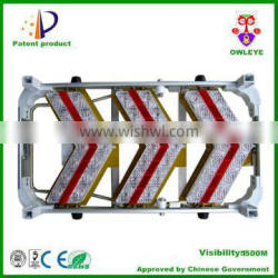Portable solar LED arrow guide boards for traffic safety