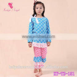 Wholesale children boutique clothing sets girls Christmas dress and ruffle pants clothing set persnickety remake girls boutique