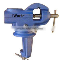 Bench vice with anvils and swivel base 60mm