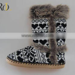 cashmere warm ladies indoor slipper boots