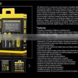 Hot!! Nitecore Authorized distributor original NiteCore D4 charger lead acid battery charger