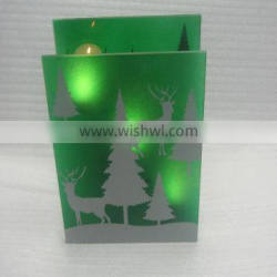 christmas home decoration with tealight candle holder