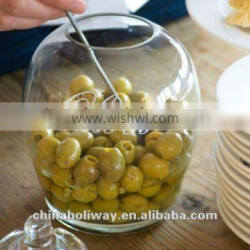GLASS OLIVES JAR