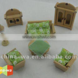wooden living room or drawing room mini furniture toy set