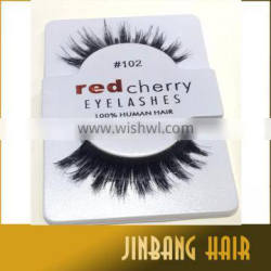 2016 Best quality synthetic nature hand made red cherry style professional makeup bigeye long false eyelashes
