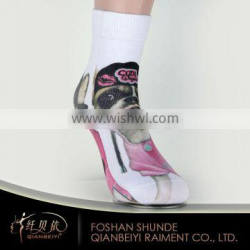 Oem custom sublimation socks with funny photo printing