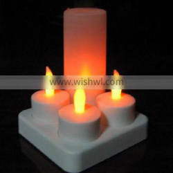 CE ROHS 4PCS PER SET Rrechargeable LED candle with cups
