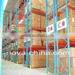 Teardrop Pallet Racking Rails Warehouse Shelving