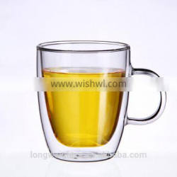 High Quality 150g Printed glass coffee mug