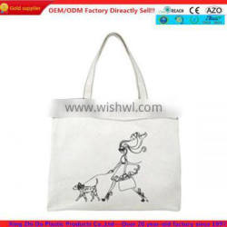 Fashion digital printed cotton cheap shopping bags