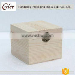 Natural pure classic style hot selling wooden unfinshed wooden box