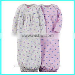 2016 Latest newborn baby gown baby sleep gown baby gown malaysia