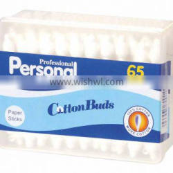 Paper stick cotton buds