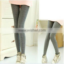 new spring multicolor twisted design girls knitted pantyhose