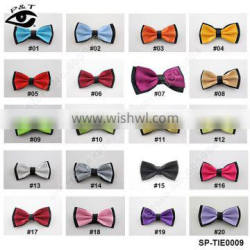 12.5x6.5CM fancy polyster bow tie British Style Solid Bowtie for Bridegroom Wedding Dress