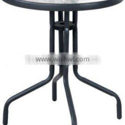 tempered glass bistro table