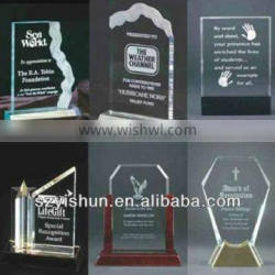 acrylic trophy display for honour
