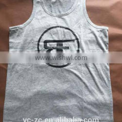 Custom Printed tank top Fitness Cotton Gym Clothing