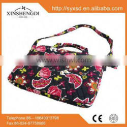 Hot selling floral oem organic fabric cotton quilted polo laptop bag