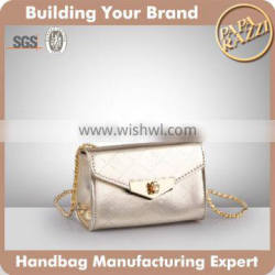 4489-2016 High quality women clutch bag clutch evening bags with metal shoulder strap