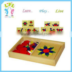 Factory various educational wooden toys jigsaw puzzle for hot sale