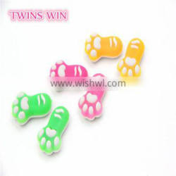 China Wholesale Market fancy foot shaped rubber glowing erasers for kids 3d promotional
