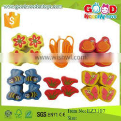 Intelligent diy toy butterfly and bees beads game colorful wooden bead toy