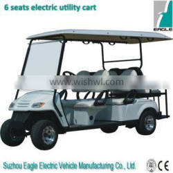China 4 wheel drive electric golf cart with rear seats