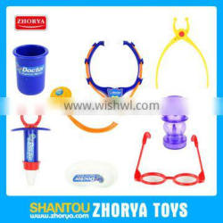 Children pretending play toy set latest design doctor play set toy doctor glasses injector echometer toys set